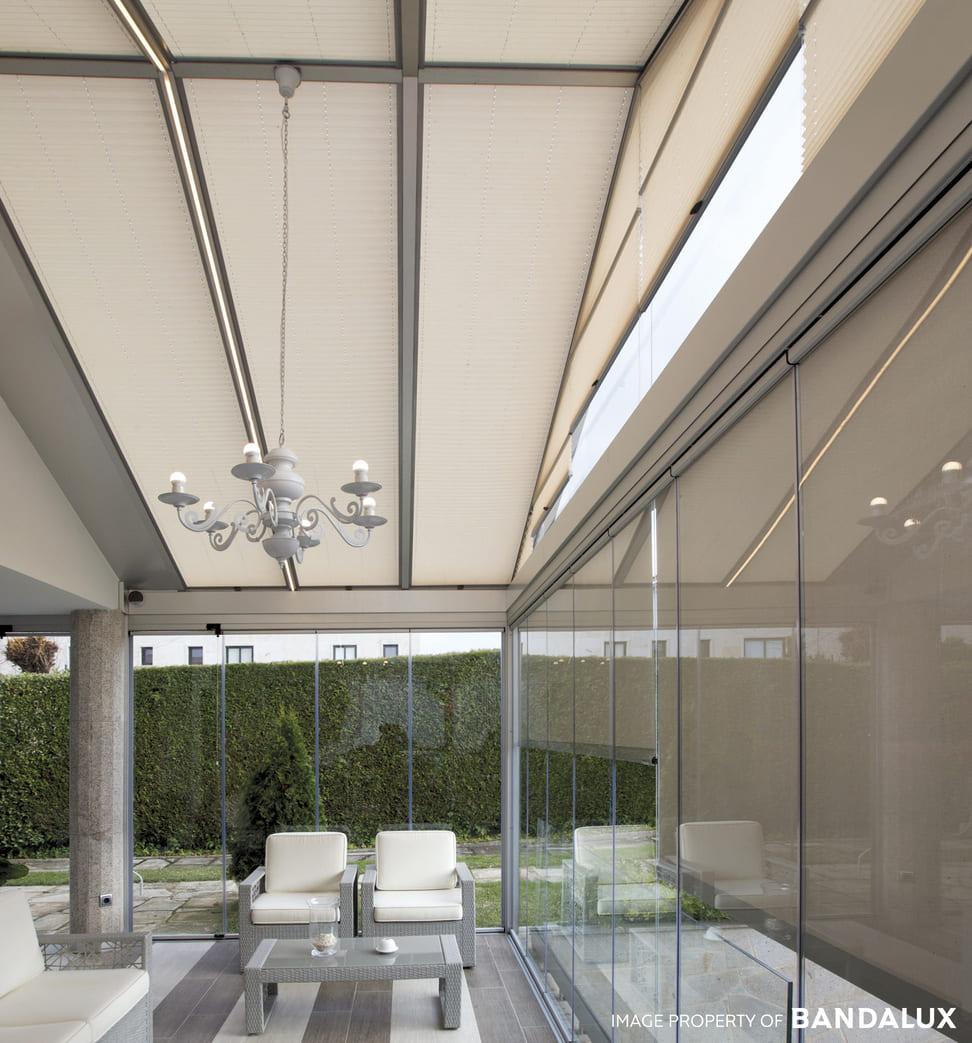 Cortinas plisadas para ventanas irregulares